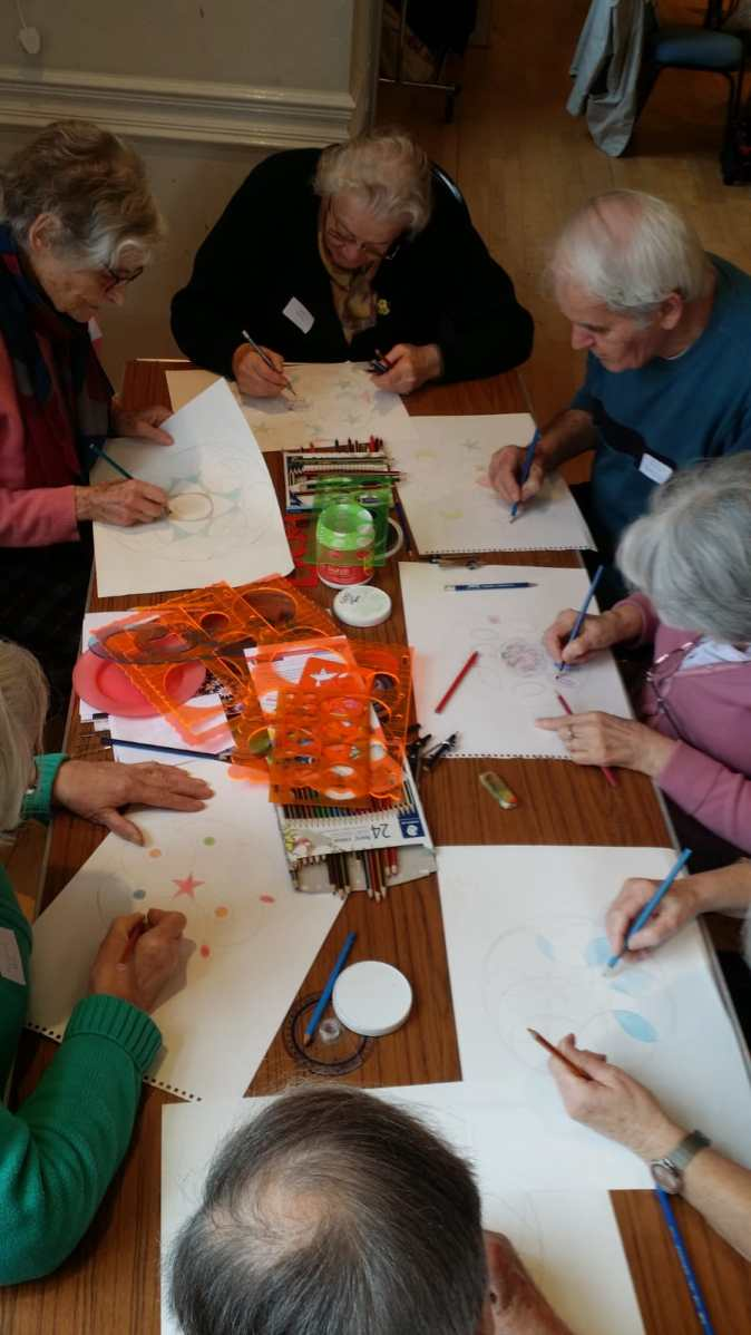 Mindful Art with seniors in Bath
